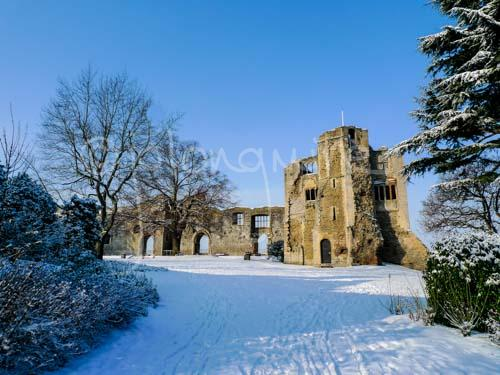 Newark Castle in the Snow