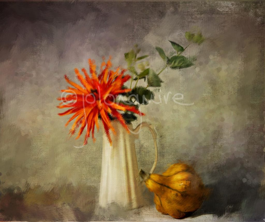 Still Life with Gourd Painterly